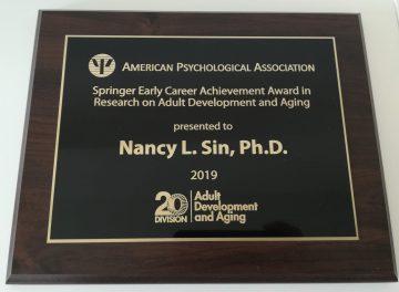 2019 APA Division 20 early career award